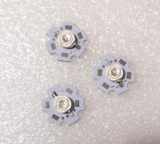3pcs 3w High Power Led Uv Ultraviolet Light 365 370nm Bead Chip 20mm Pcb