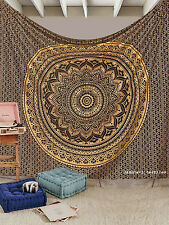 Large Hippie Mandala Tapestry Black Ombre Wall Hanging Indian Bedspread Throw (*