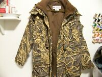 Columbia Men's Shadow Grass Camouflage Hooded Hunting Jacket Size Small