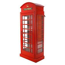 """72"""" London British Telephone Phone Booth Display Cabinet Replica Reproduction"""