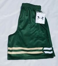 New Women's Green Reversible Basketball Shorts Under Armour Armourfuse Size XL