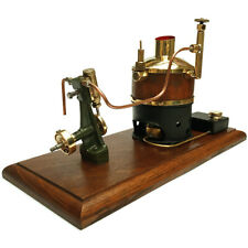 A FINE ANTIQUE MARINE ENGINE COMPLETE WITH ITS WOODEN CLAD BOILER & BURNER