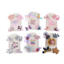 5Pcs/set kids baby girls cute cartoon hair clips hairpins hair accessories AHWU