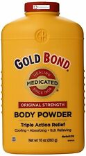 Gold Bond Medicated Body Powder cooling absorbing itch relieving 10 Ounce