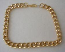 "BMNY 14K YELLOW GOLD GP 8.5"" CUBAN LINK CHAIN Bracelet LIFETIME GUARANTEE Unisex"