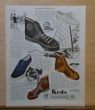 1937  magazine ad for Keds  shoes - Speeder, Supreme, Bike, Vent. Sole, Resort