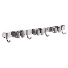 More details for multi-functional mop holder tool wall organiser 3 racks & 4 hooks m&w