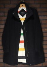Auth PENDLETON Hudson Bay Woolen Mills Gray Wool Trench Coat Jacket Size M