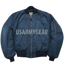 Made in USA New ALPHA Us Ground Crew Flight Jacket Army Military Blue Medium
