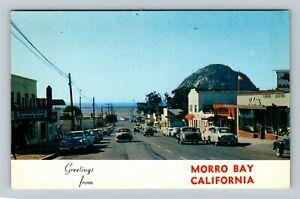 Morro Bay CA-California, Bay Movie Theater, West on 5th Street, Chrome Postcard