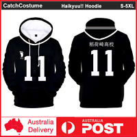 Haikyuu!! Inarizaki High School Hoodie Miya Osamu Cosplay Sweatshirt Jacket Coat