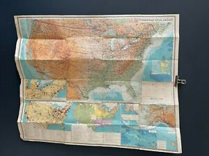 Vintage Folding Map of USA MADE IN USSR RUSSIA from 1979, RARE! SPY Cold War