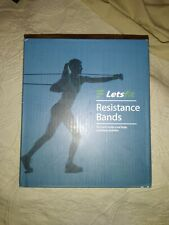 Letsfit Resistance Bands Set Exercise Bands with Handles Training Tubes JSD04-5P