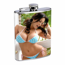 Argentina Pin Up Girls D13 Flask 8oz Stainless Steel Hip Drinking Whiskey
