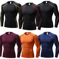 Men's Compression Running Basketball Gym Tops Workout Gym Base Layers Quick-dry