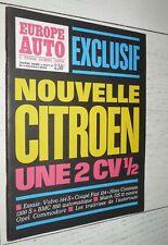 EUROPE AUTO N°6 1967 2 CV CITROËN VOLVO 144 S COUPE FIAT 124 DS 21 OPEL HINO BMC
