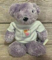 "USPS Plush Wonder Bear Stuffed Beanie Lavender Candy Hearts Stamp 9"" Valentine"