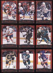 2000-01 TOPPS PREMIER PLUS NHL HOCKEY CARD 1 TO 140 SEE LIST