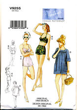 Vogue Sewing Pattern 9255 Misses 6-14 Retro Vintage 1960 Bra Shorts & Cover-up