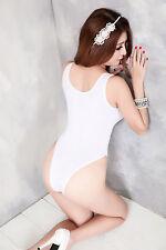 White Sheer Mesh Teddy AV Hot Wet Party Dress Bra Set Costumes Lingerie UK S-M