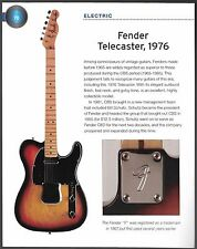Fender 1976 Telecaster + 2004 Tele Deluxe electric guitars 6 x 8 pin up article
