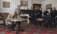 "Tom Lovell SURRENDER AT APPOMATTOX Anniversary Giclee Canvas (40"" x 24"") #11/95"