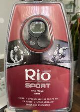 Rio Sport S30S Black/Red ( 64 Mb ) Digital Media Player Bundle Brand New Sealed