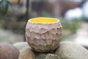 Giraffe skin Round Succulent planter Ceramic pot for cactus Carved Handmade