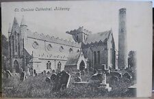 Irish Postcard ST. CANICE'S CATHEDRAL KILKENNY Ireland Black White Inland
