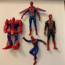 Marvel Universe SpiderMan Transformer Bendy Iron Spider Glider Movie Figure Lot
