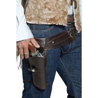 Cowboy Oeste Gunman Cartuchera Set Lejano Oeste Vaqueros Accesorio de Disfraz