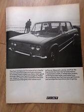 1970 Fiat 124 Special Sedan Ad