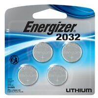 4 pcs Energizer CR 2032 Lithium Coin 3V Batteries DL2032 2032BP-4 Exp: 2025