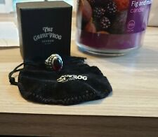 The Great Frog Small Feather ring Size J 1/2 - Gothic Red