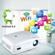3200LM BT Wireless Smart Android 6.0 LED Projector Home Cinema 3D 1080P HDMI ATV