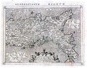 Antique map, Neapolitanum Regnum