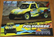 2014 Christopher Polvoorde signed Horizon Trophy Kart LOORS Off Road postcard