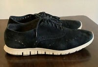 Cole Haan Zerogrand Grand.os Wingtip Oxford Black Suede Leather Women Shoes 9 B