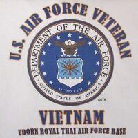 VIETNAM UDORN AIR FORCE BASE* AIR FORCE VETERAN W/ EMBLEM* SHIRT OR SWEATSHIRT
