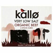 Kallo Boeuf Stock Cubes-Low Salt & Organic - 51 g - 75605