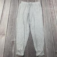 WOMEN'S AERIE Soft Gray JOGGER SWEAT PANTS SWEATPANTS SIZE SMALL DRAWSTRING