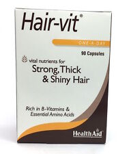 HealthAid Hair-Vit Caps (90 caps) vital nurients for Strong, Thick Shiny Hair