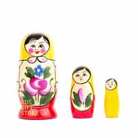 Russian Doll Matryoshka Not a Fake from Russia Handmade and Painting