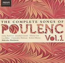 Lorna Anderson (soprano) - The Complete Songs of Francis Poulenc Vol1 [CD]