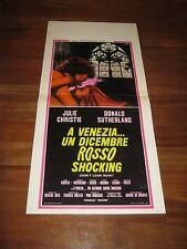 LOCANDINA,VENEZIA UN DICEMBRE ROSSO SHOCKING,SUTHERLAND,Don't Look Now Christie