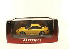 Autoart N°14122 Porsche 911 Carrera S Yellow 1:24 New Box / Boxed Mint