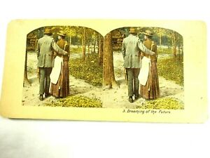 Dreaming of The Future Black Americana Stereoview Slide