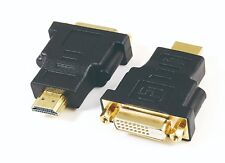 DVI TO HDMI MALE GOLD PLATED ADAPTER ADAPTOR CONNECTOR CONVERTER HD TV MONITOR