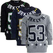Markenlose Jungen-Pullover mit Rundhals-Ausschnitt