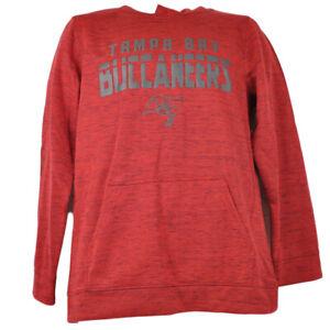 NFL Tampa Bay Buccaneers Hoodie Imprinted Pullover Youth Red Long Sleeve